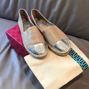 NWOT TORY BURCH LEATHER COLOR BLOCK ESPADRILLE